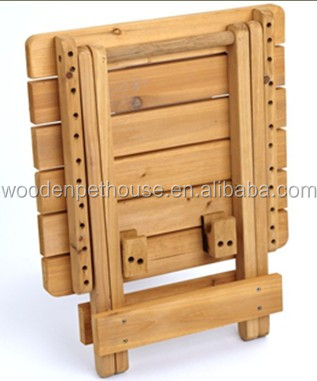 Plein air petite table pliante en bois bt1401 table for Petite table pliante en bois