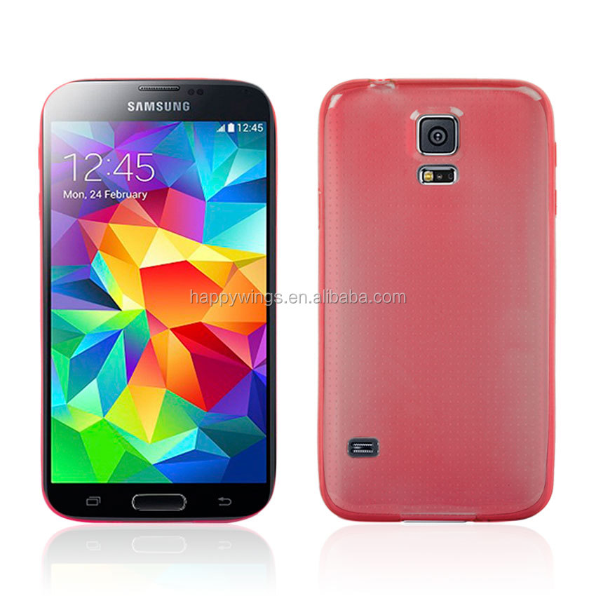 0.5mm Ultra Thin Super TPU Case For Galaxy S5 9600 Red-1329