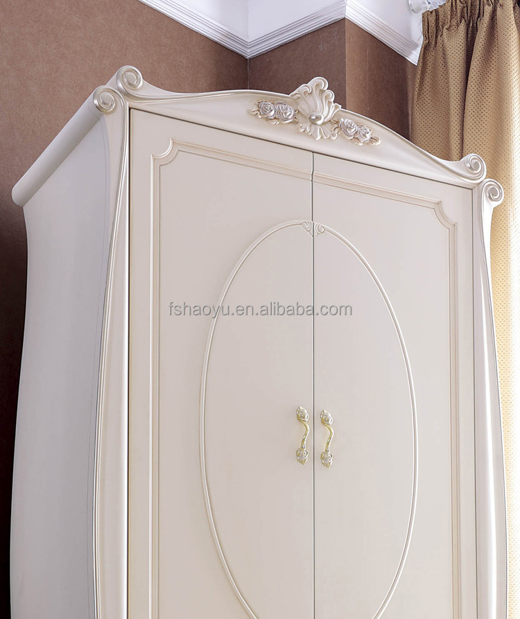 French Style Wooden Almirah Designs,Ivory Bedroom Wardrobe