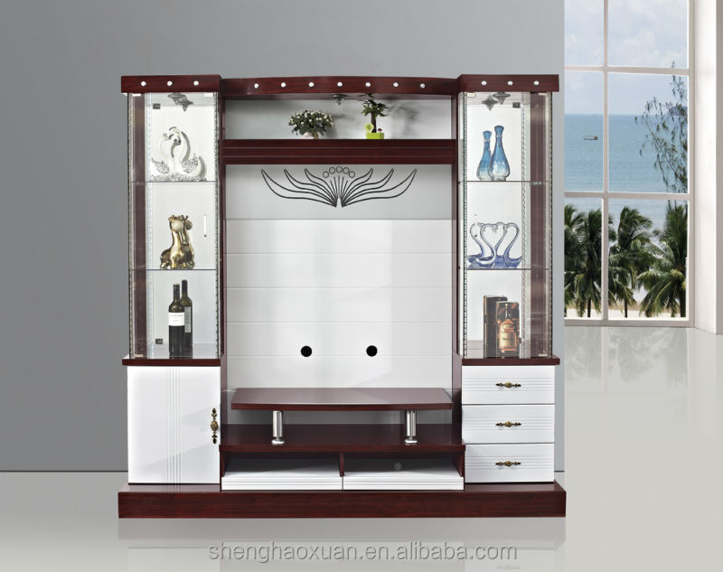 Latest Design Modern Corner Tv Cabinet Led Tv Wall Unit 9904 Living Room Furniture Lcd Tv Wall