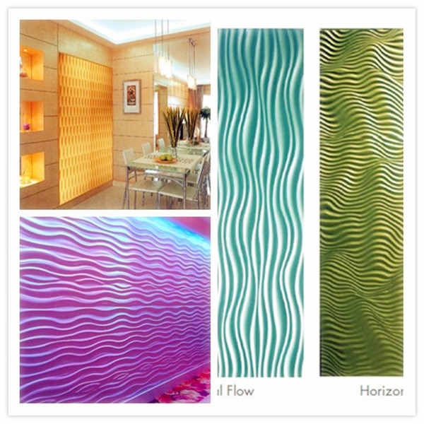 Interior wall panels 3d wall panel gypsum board wall for Interior designs materials