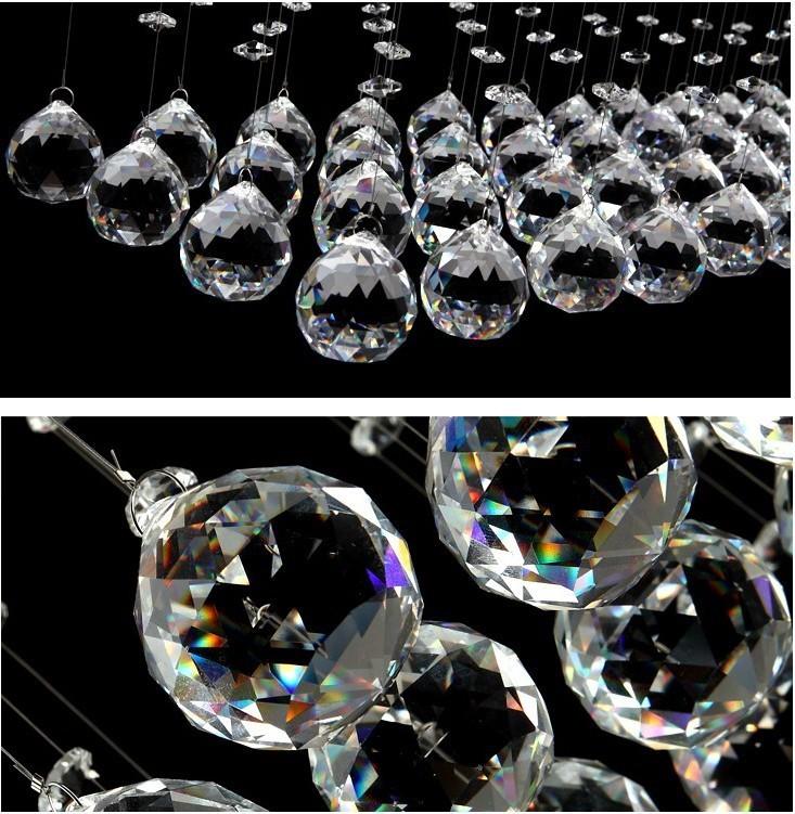 Купить Хрустальная Люстра Потолочный Светильник длинная двойная спираль Кристалл Kronleuchter Потолочное освещение, хрустальный Потолок LightingSY3054/4L