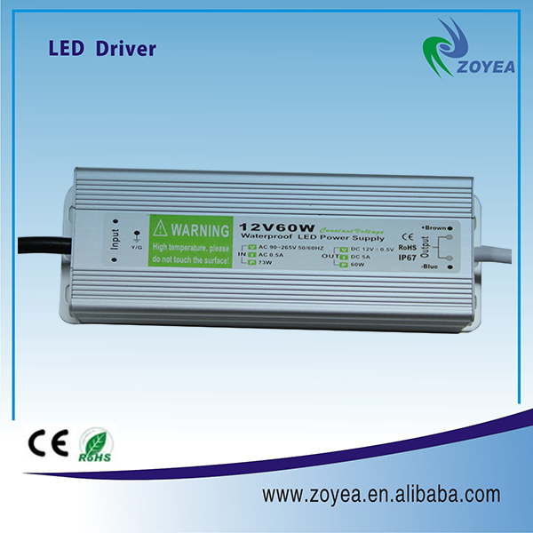 60W AL housing constant voltage electric supplies