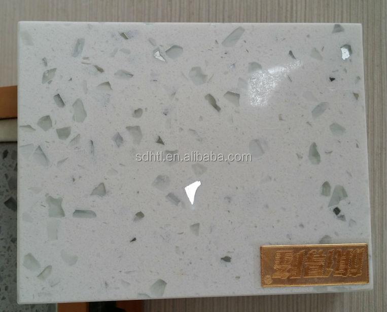 White Mirror Fleck Quartz Stone Countertop Bath