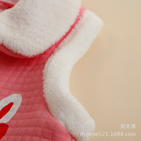 Детская одежда для девочек Foreign Trade Children's Clothing Small Warm Cardigan Vest Waistcoat