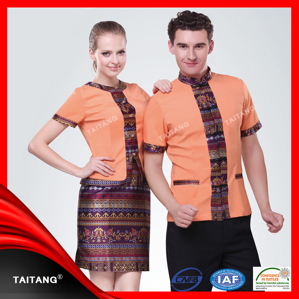 New design classic chinese restaurant uniform for waiter
