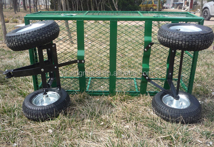 Grand jardin chariot panier 4 roue de transport robuste for Chariot de jardin 4 roues
