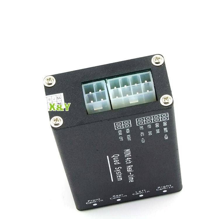 Tout autour de contrôleur vidéo boîte. split, boîte pour 4 caméra vidéo de voiture interrupteur( xy- 7028)
