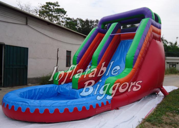 au gonflable de la ce de glissi re d 39 eau de piscine de parc d 39 attractions avec le double point. Black Bedroom Furniture Sets. Home Design Ideas