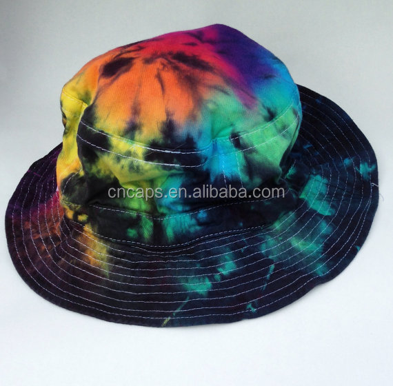 Tie Dye Bucket Hat Wholesale Tie Dyed Bucket Hat