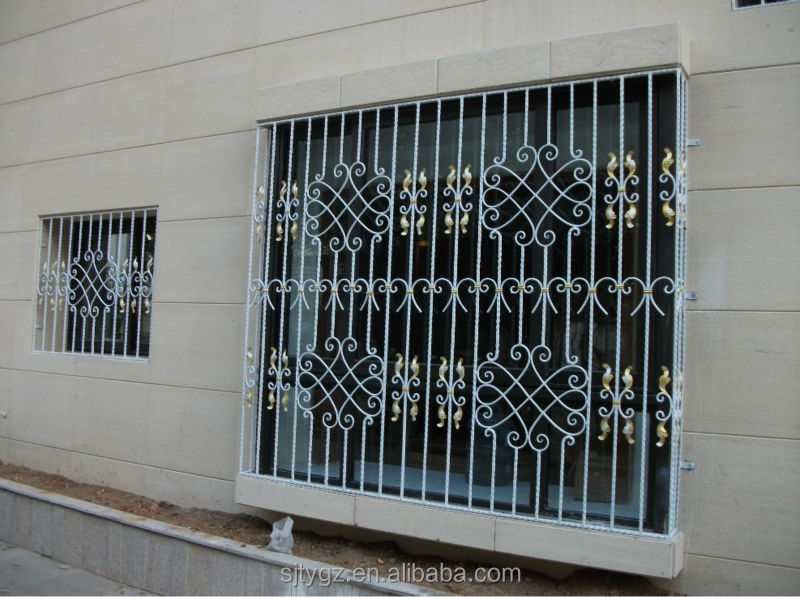 The new design iron grill window door designs view iron for Iron window design house