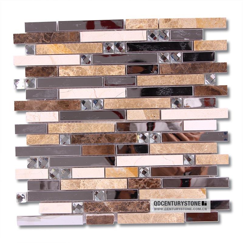 beveled mirror tiles backsplash decorative metal mix glass