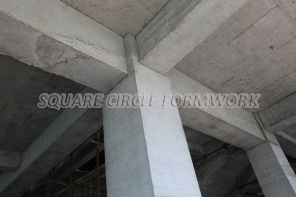 Paint For Concrete Pillars : Concrete rectangular column shuttering formwork
