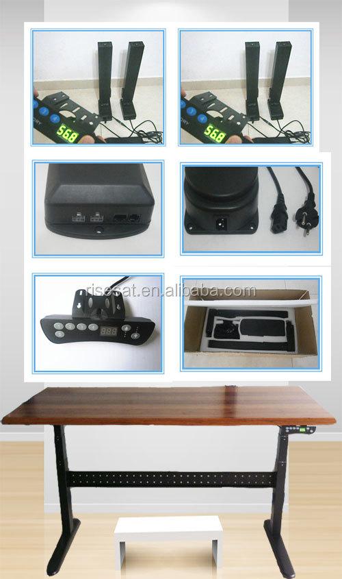 m tal ergonomique hauteur r glable pc bureau lectrique bureau r glable en hauteur bureaux d. Black Bedroom Furniture Sets. Home Design Ideas