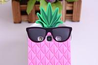милая Виктория/s секретный розовый s3, дело 3d силиконовая мода фруктов ананас очки мягкая обложка для samsung galaxy s3 siii i9300