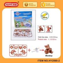 Bricolage assemblée singe vent jusqu'à jouets pour enfants