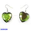 green heart shape rhinestone drop earrings and latest design crystal drop earrings