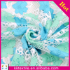 New fashion For Lady Dress Fabrics Blue Lace Embroidery Fabric