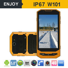 IP67 4G Lte WIFI GPS outdoor waterproof 5 inch NFC RFID rugged mobile phone