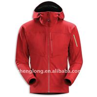2012 new hoody men's softshell jacket
