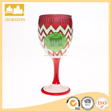 140ml merry christmas hand painted wine glass,painted wine glass patterns