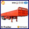 good quality 3axles 45Tons 1,000mm fiberglass cargo trailer