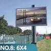 New design led strips backlit steel structure billboard