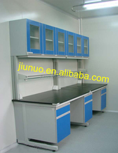 Chinese Modern Medical Storage Furniture lab wall bench with wall mounted cabinet