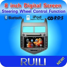 In dash digital touch screen 2 din 8 inch 3D UI for Chevrolet Sonic with GPS/BT/Ipod