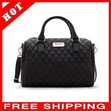 Free shipping! Cathylin CA13N636 New fashion black PU leather women handbags classic plaid bag MANGO bag female messenger bags!