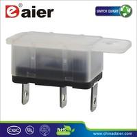 Daier 3PIN Single Pole 12A/15A 125/250VAC KOR2 Transparent Type Earth Leakage Circuit Breaker