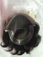 100% human hair toupe