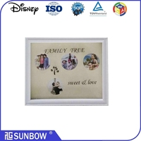 Wholesale muti open shadow box picture frame mouding with family tree silkcreen on glass