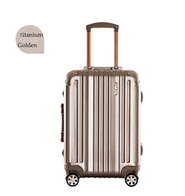 "Best Quality Titanium Golden 21"" Aluminum Luggage Cheap Price Aluminum Lugage Case"