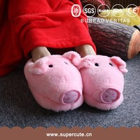 Unique creative cute pink pig shape parent-child animal shaped slippers