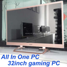 "All in one pc, gaming all-in-one pc cheap computer with built-in all in one ,pc case 32"" LED monitor wholesale gaming pc"