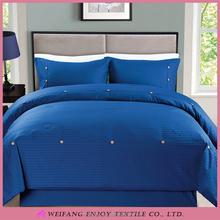 Solid Color Polyester/Cotton Stripe Bedding Comforter Sets