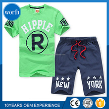 2015 wholesale high quality 2pcs cotton kids clothes set