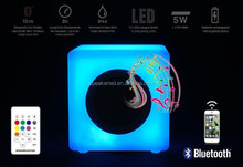5.9 inches Music rhythm 7 color choice App/remote led bluetooth lighting speaker