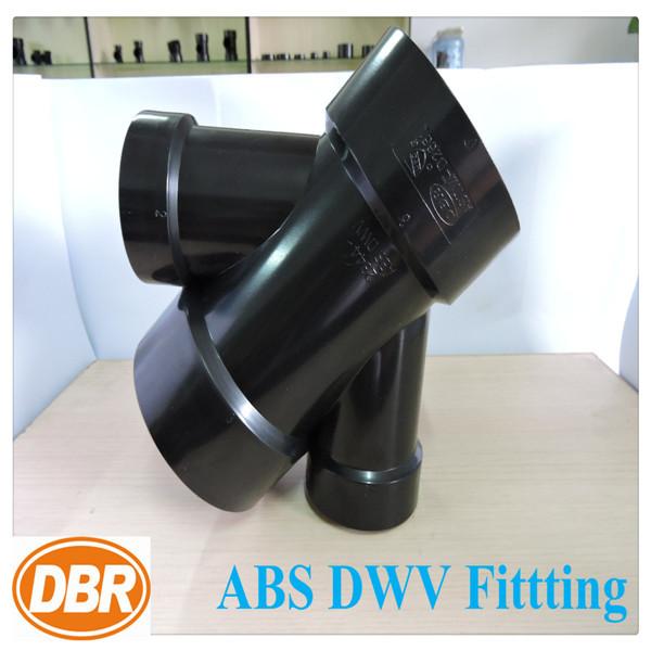 Abs plumbing fittings 3 3 2 2 double wye reducing bathroom for Plumber bathroom fittings