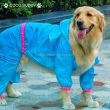 2015 blue color fashion style dog pet raincoat wholesale dog raincoat