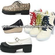 Various girls casual shoes oxford wedge flat mix