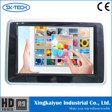 Car TFT LCD rear sest Monitor built in WIFI function and adjustable monitor stand