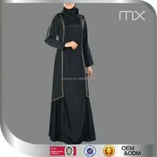 neuankömmling einfache traditionelle schwarz islamische frauen musilm kleid