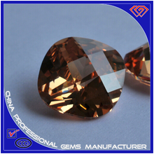 Champagne square turtle surface cutting synthetic CZ Stone wholesaler