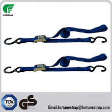 1'' 0.5T container lashing equipment, safety belt cam buckle rubber tie down ratchet tie down, transport strap