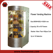 Various Specification 30 or 60 Flowers Capacity 16 Selection R134A Flower Vending Machine With Lift