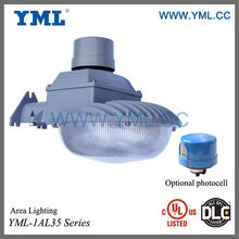 UL, DLC 23W to 80W LED security light, dusk to dawn light