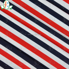 mutil color red white stripe print fabric for bikini/ swim wear