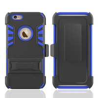 3 in 1 heavy duty belt clip holster case for iphone 6,hybrid armor case for iphone 6